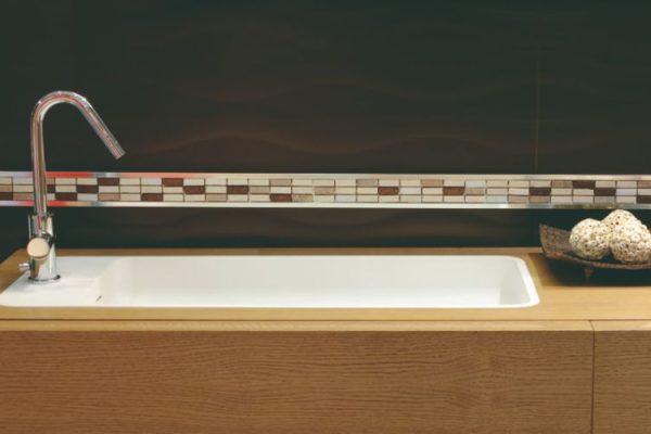 wooden clustre sink