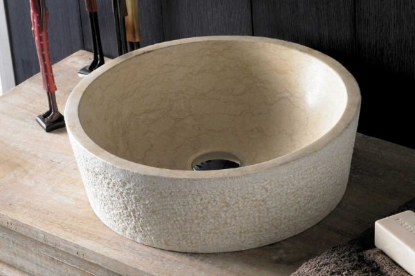 Brown stone hand basin