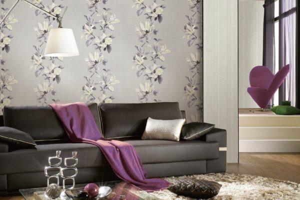 Grey floral wallpapers Tanzania