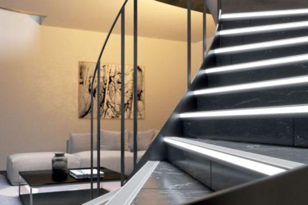 Granite stairs tile edge strips