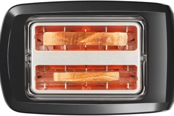 Bosch compact toaster inside with two slices of bread
