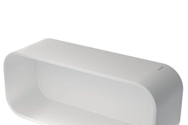 White bath accessories