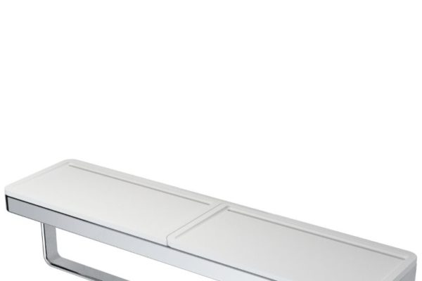 Steel handle bath accessories