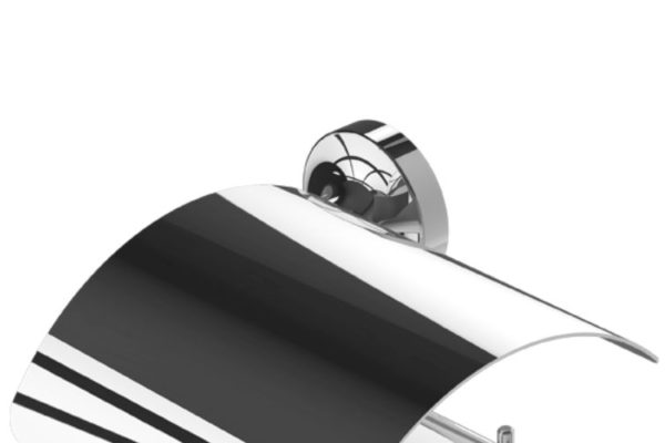 Polished stainless steel bathroom accessory