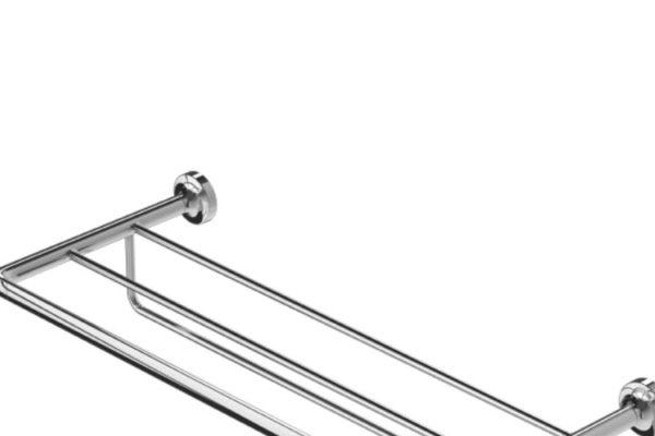 Geesa stainless steel towel rail with shelf