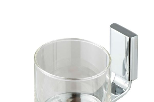 Glass holder with glass wall mount