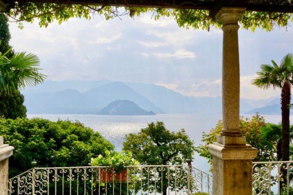 Open sea balcony with white railings