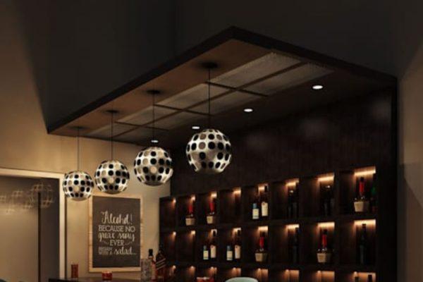 Modern design home bar