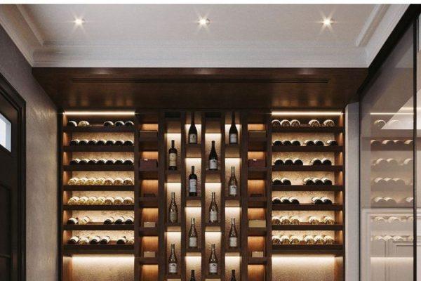 Wine cellar design for bar