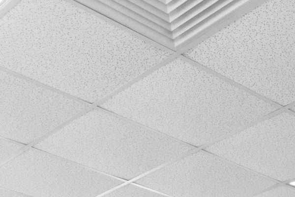 Square shaped white ceilings
