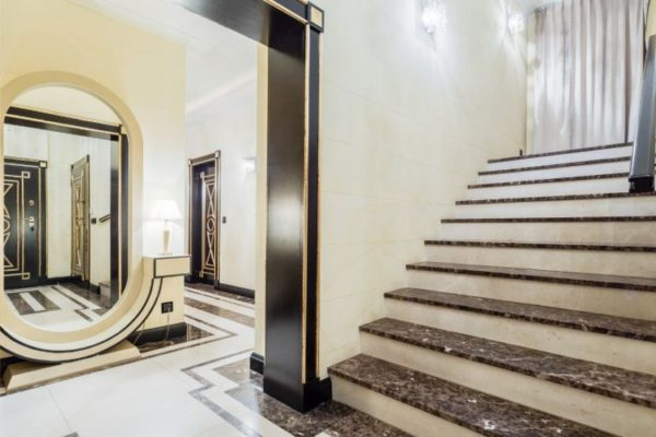 Polished granite staircases