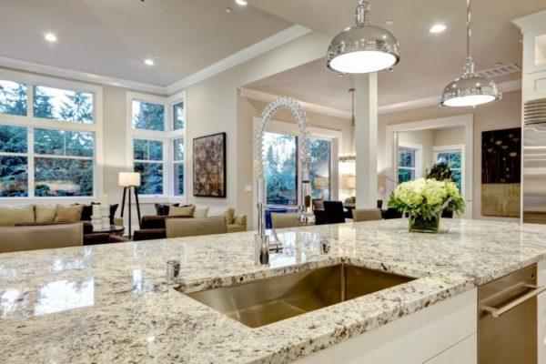 Elegant kitchen top with kitchen sink