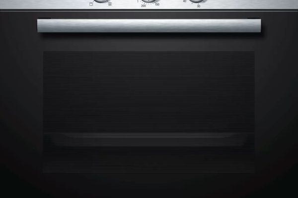Stainless steel 60 by 60cm Bosch built-in-oven