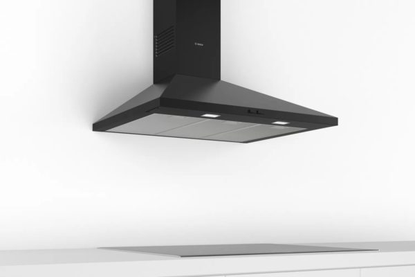 Black Bosch chimney hoods
