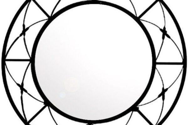 Modern Wrought Iron Mirror