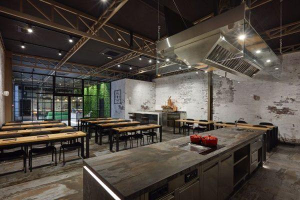 Restaurant design kitchen top
