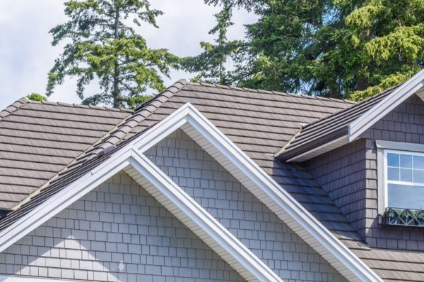 Trout gray roofing tiles