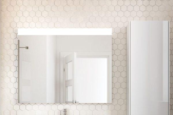 modern design wall will large rectangular mirror