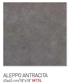 Fossil gray aleppo antracita 45by45cm floor tiles