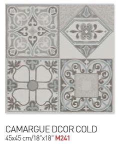 Fiorella camargue decor cold 45by45cm floor tiles