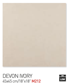 Devon Ivory 45by45cm floor tiles