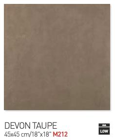 Devon taupe 45by45cm floor tiles