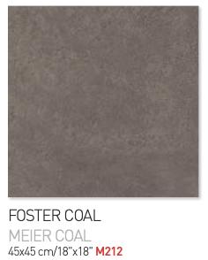 Foster coal 45by45cm floor tiles