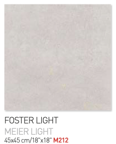 Foster light 45by45cm floor tiles