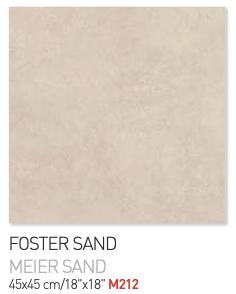 Foster Sand 45by45cm floor tiles