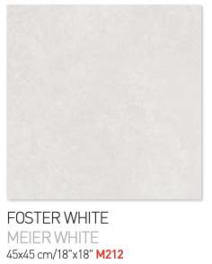 Foster white 45by45cm floor tiles