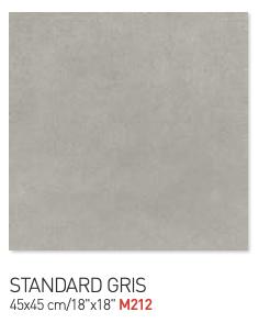 Standard gris 45by45cm floor tiles