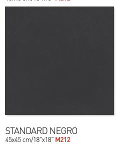 Standard negro 45by45cm floor tiles