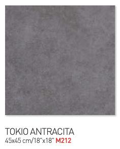Tokio antracita gray 45by45cm floor tiles