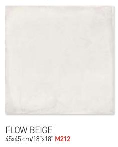 Flow beige 45by45cm floor tiles