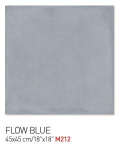 Flow blue 45by45cm floor tiles