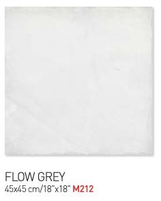 Flow grey 45by45cm floor tiles