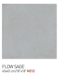 Flow sage 45by45cm floor tiles