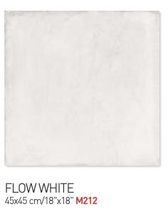 Flow white 45by45cm floor tiles