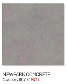 Newpark Concrete 45by45cm floor tiles