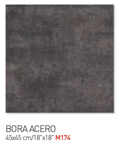 Bora acero 45by45cm floor tiles