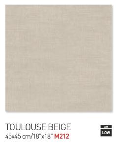 Toulouse beige 45by45cm floor tiles