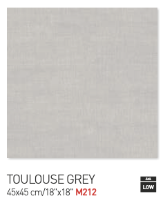 Toulouse grey 45by45cm floor tiles