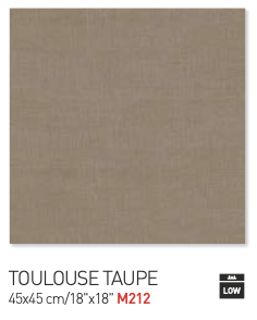 Toulouse taupe 45by45cm floor tiles
