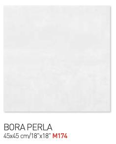 Bora perla 45by45cm floor tiles