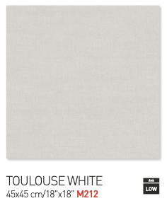 Toulouse white 45by45cm floor tiles