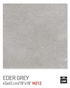 Eder grey 45by45cm floor tiles