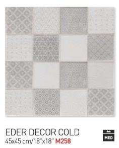 Eder decor cold 45by45cm floor tiles