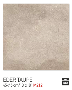 Eder taupe 45by45cm floor tiles