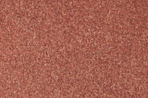 Salmon red glitter glass plaster