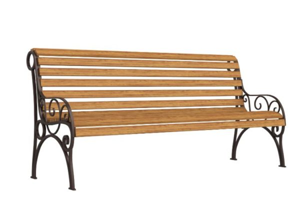 Brown colored bench for sale